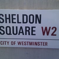 Photo taken at Sheldon Square by Dan B. on 9/26/2012