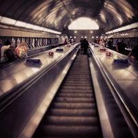 Photo taken at Angel London Underground Station by Jason T. on 3/19/2013