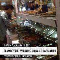 Photo taken at Flamboyan - Warung Makan Prasmanan by DEDI S. on 1/11/2013