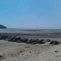 Photo taken at Llansteffan Beach by Geoffrey S. on 7/2/2013