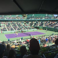 Photo taken at Grandstand Court - Sony Ericsson Open by Jorge P. on 4/2/2015