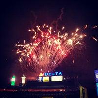 Photo taken at Turner Field by Rachel C. on 7/5/2013