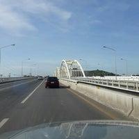 Photo taken at Dechatiwong Bridge by Krittha P. on 7/19/2016
