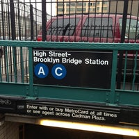 Photo taken at MTA Subway - High St/Brooklyn Bridge (A/C) by TJ C. on 1/1/2013