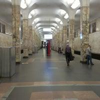 Photo taken at metro Avtozavodskaya by Vladimir S. on 5/10/2013
