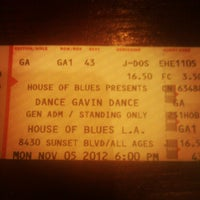 Photo taken at House of Blues Sunset Strip by Jose P. on 11/5/2012