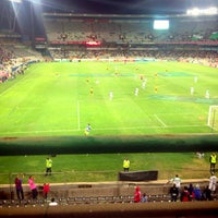 Photo taken at Free State Stadium (Vodacom Park) by Clerment S. on 9/17/2013
