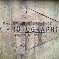 Photo taken at Maison Européenne de la Photographie by Romain L. on 11/4/2012