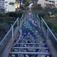 Photo taken at Hidden Garden Mosaic Steps by Kathryn F. on 2/7/2016