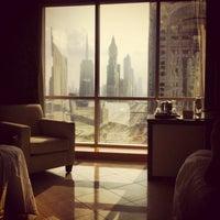 Photo taken at Fairmont Dubai by Echedey M. on 1/4/2013