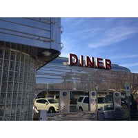 Photo taken at Rockin' Comet Diner by 🔴W⚪️B🔵L on 2/17/2014