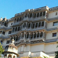 Photo taken at Devi Garh Udaipur by Laurie W. on 3/3/2013