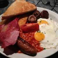 Photo taken at Huxleys Bar & Kitchen by John M. on 2/15/2013