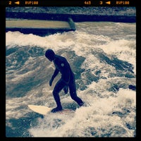 Photo taken at Eisbach Wave by Matthias S. on 1/7/2013