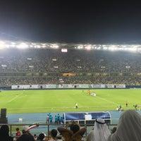 Photo taken at Jaber AlAhmad International Stadium by Shoug a. on 9/23/2016