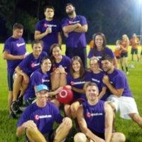 Photo taken at WAKA Kickball Field by Meryl H. on 9/28/2012