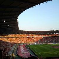 Photo taken at King Baudouin Stadium by Jarno O. on 6/7/2013