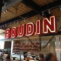 Photo taken at Boudin Bakery Café Baker's Hall by Cam B. on 10/19/2012