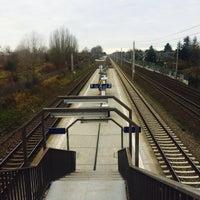 Photo taken at Bahnhof Berlin-Staaken by Nadine on 12/3/2015