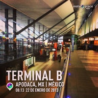 Photo taken at Terminal B by Mauricio N. on 1/22/2013