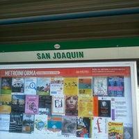 Photo taken at Metro San Joaquín by TaLy on 9/21/2012