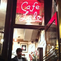 Photo taken at Cafe Lalo by Melinda T. on 11/26/2011