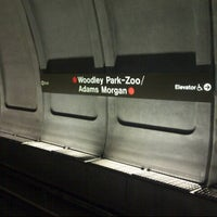 Photo taken at Woodley Park-Zoo/Adams Morgan Metro Station by Meme on 8/14/2012
