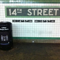 Photo taken at MTA Subway - 14th St/Union Square (L/N/Q/R/4/5/6) by Cliff on 12/1/2011
