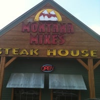Photo taken at Montana Mike's Steakhouse by Bob F. on 5/4/2012