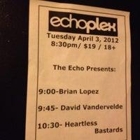Photo taken at Echoplex by Robin F. on 4/4/2012