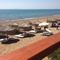 Photo taken at Anemos Beach Bar by Thanasis P. on 4/26/2013