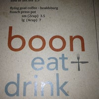 Photo taken at boon eat + drink by Patrick T. on 3/4/2013