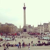 Photo taken at Trafalgar Square by Fonwa L. on 5/7/2013