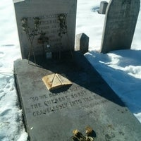 Photo taken at F. Scott Fitzgerald's Grave by Rocio del Mar P. on 2/28/2015