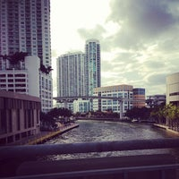 Photo taken at Brickell Ave Bridge by Nicholas C. on 3/18/2013