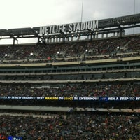 Photo taken at MetLife Stadium by Effie B. on 4/10/2013