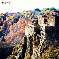 Photo taken at Calcata by Maurizio P. on 10/29/2012
