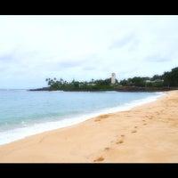 Photo taken at Waimea Bay by aki on 11/27/2012