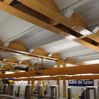 Photo taken at Métro Gare de Lyon [1,14] by Richard Y. on 3/21/2013