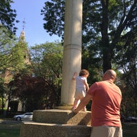 Photo taken at Flagpole Green - Forest Hills Gardens by Nicole on 6/27/2016