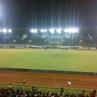 Photo taken at Stadion Manahan by Indra B. on 12/23/2012