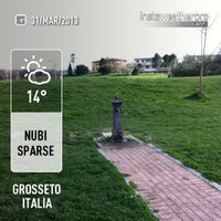Photo taken at Parco Urbano Del Fiume Ombrone by Fabio S. on 3/31/2013
