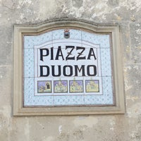 Photo taken at Piazza Duomo by Sevgi P. on 7/4/2016