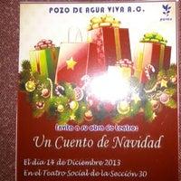 Photo taken at Teatro Social Sección 30 by Manolo M. on 11/30/2013