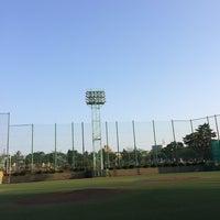 Photo taken at 青山運動場 野球場 by Keita K. on 4/26/2014