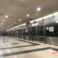 Photo taken at Marina Bay MRT Interchange (NS27/CE2) by Cartoon P. on 10/20/2016
