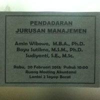 Photo taken at Fakultas Ekonomika dan Bisnis by Andrian P. on 2/20/2013