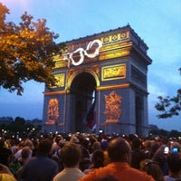 Photo taken at Gardens of the Champs-Élysées by DH K. on 7/21/2013