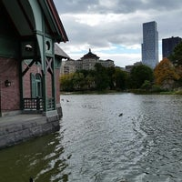 Photo taken at Central Park - Harlem Meer by Richard R. on 10/26/2014