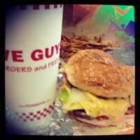 Photo taken at Five Guys by A. Jordan F. on 7/4/2013